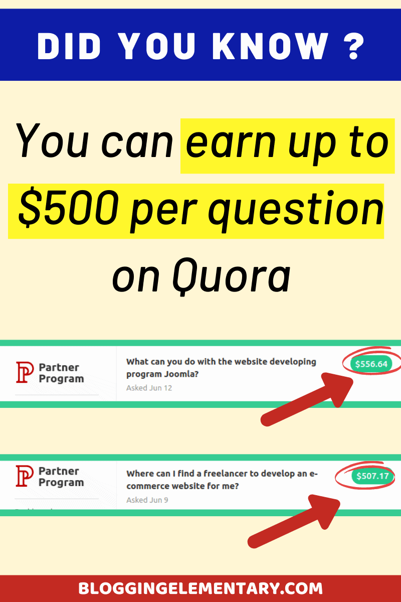 Can you earn money by asking questions on Quora