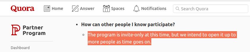 How to join the quora partner program