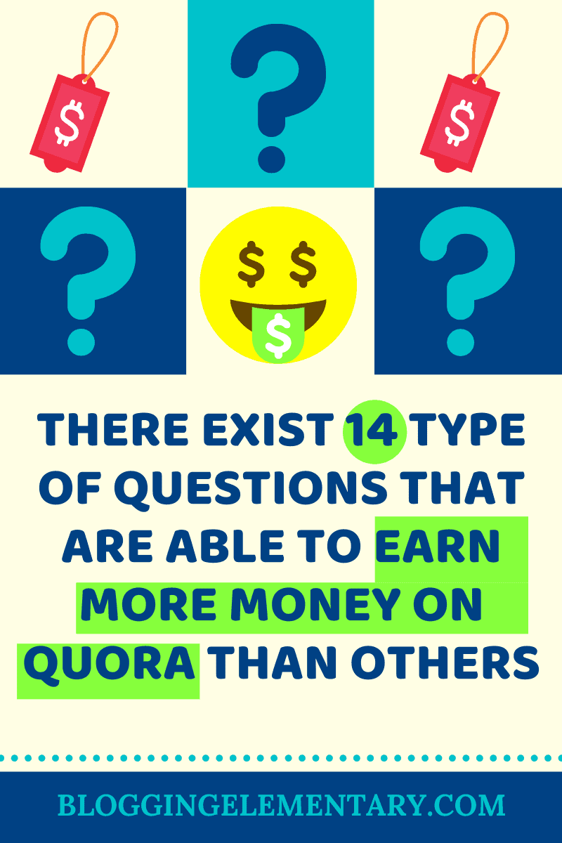 Some questions earn more than others on Quora